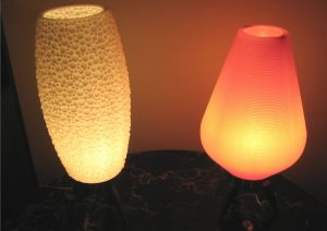 1970's Plastic Table Lamps