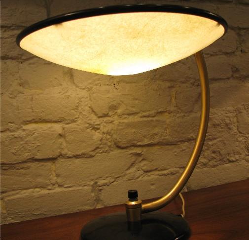 Arc Stemmed Saucer Lamp by Dazor