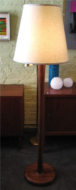 1970's Walnut Floor Lamp
