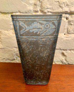 Art Glass Studio Vase by Penelope Wurr