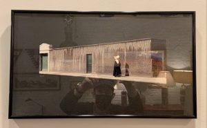 Framed Mounted Photo Collage, Nun, by Eileen Widder