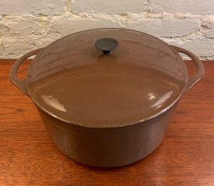 Large Enameled Dutch Oven from France