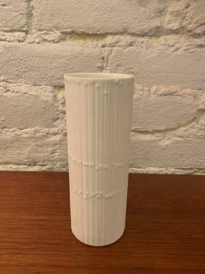 Line Drops White Porcelain Bisque Vase by Tapio Wirkala for Rosenthal