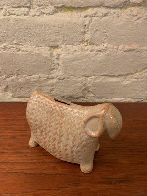 Bennington Pottery Ceramic Sheep Bank by David Gil