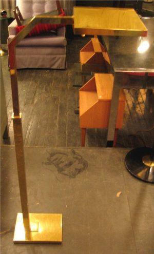 Brass Square Stock Adjustable Floor Lamp