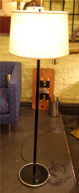 Black and Chrome Metal Floor Lamp