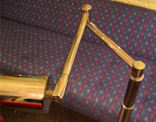 Chrome Double Swing Arm Floor Lamp Attr. Nessen