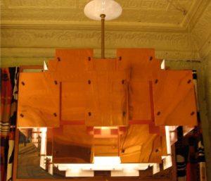 Copper Panel Chandelier by Robert Sonneman