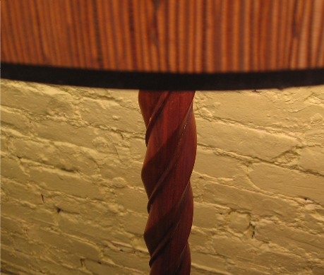 Carved Walnut Floor Lamp