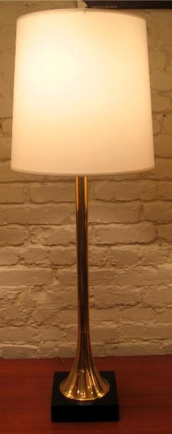 Brass Trumpet Table Lamp