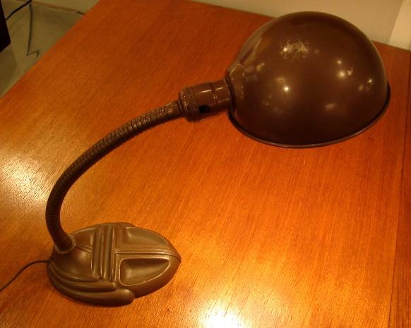 Brown Metal Student Lamp