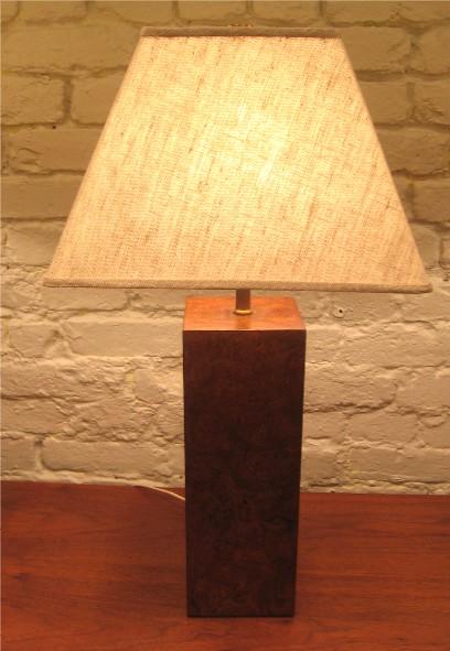 Burl Wood Table Lamp by Paul Mayan