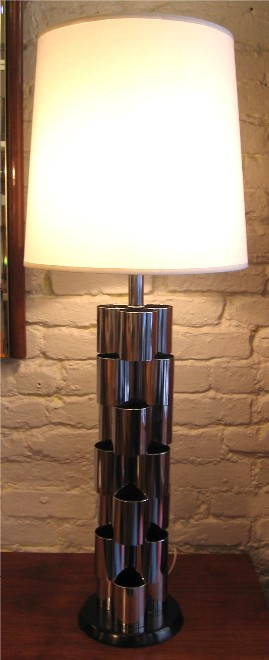 Chrome Table Lamp by Mutual Sunset Lamp Co.