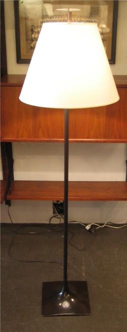 Dark Brown Square Based Laurel Floor Lamp