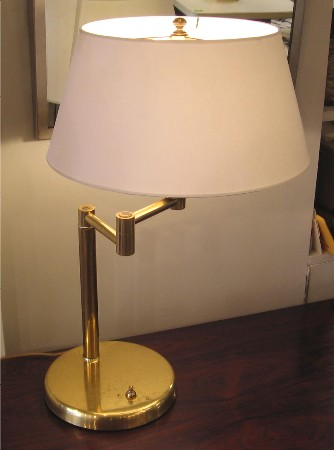 Brass Swing Arm Lamp attributed to Nessen