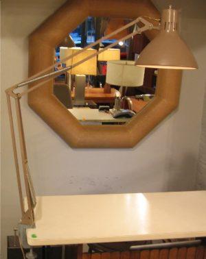 Beige Clamp-On Luxo Task Lamp