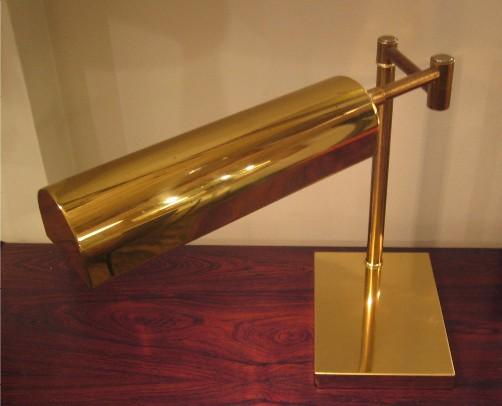 Brass Swing Arm Task Lamp in the style of Koch & Lowy