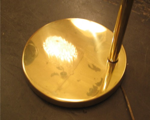 Brass Swing Arm Nessen Style Floor Lamp