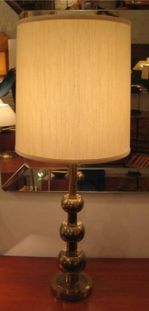 Brass Orb Table Lamp attributed to Stiffel