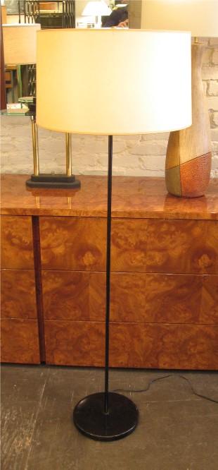 Black Basic Concept Floor Lamp by Lightolier