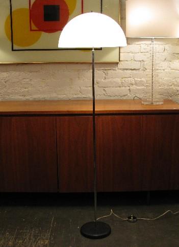 Domed Chrome Floor Lamp by George Kovacs