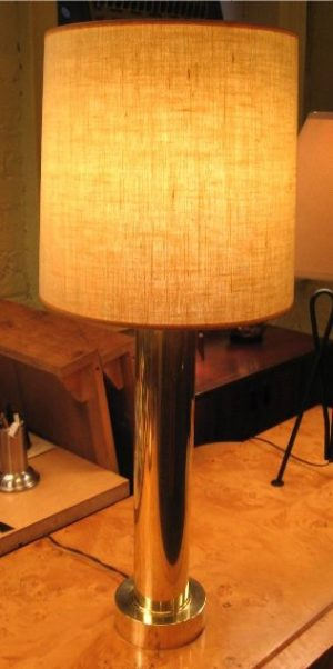 Brass Cylidrical Table Lamp
