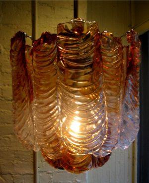 Barovier Style Italian Murano Glass Chandelier