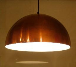 Copper Dome Pendant Lamp