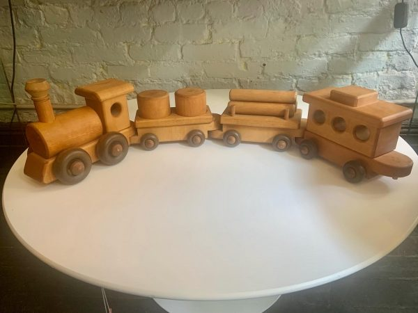 Vintage Four Car Wooden Train by Yensho