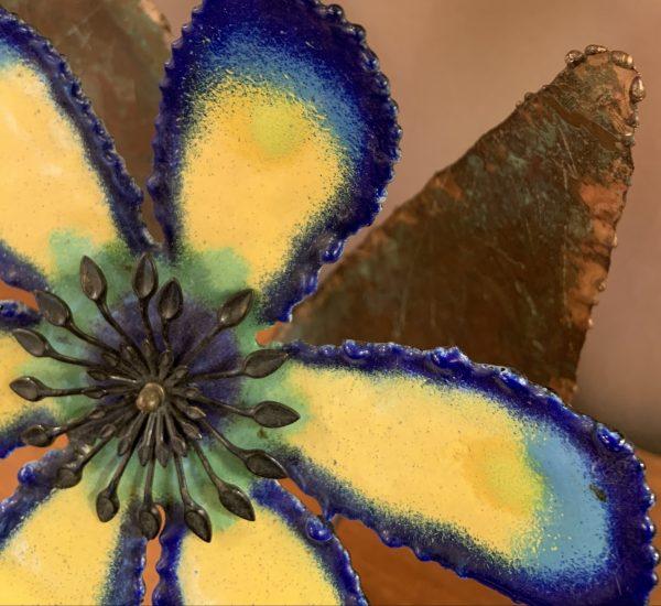 Enameled Flower Sculpture by C. Jere