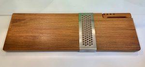 Teak Fish/Bread Board with Knife by Richard Nissen, Denmark