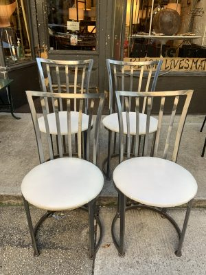 1980s Stainless Steel Side Chairs by Shaver Howard - Set of 4
