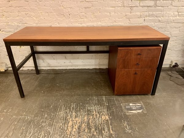 Milo Baughman for Directional Mid Century Long Desk with File Cabinet